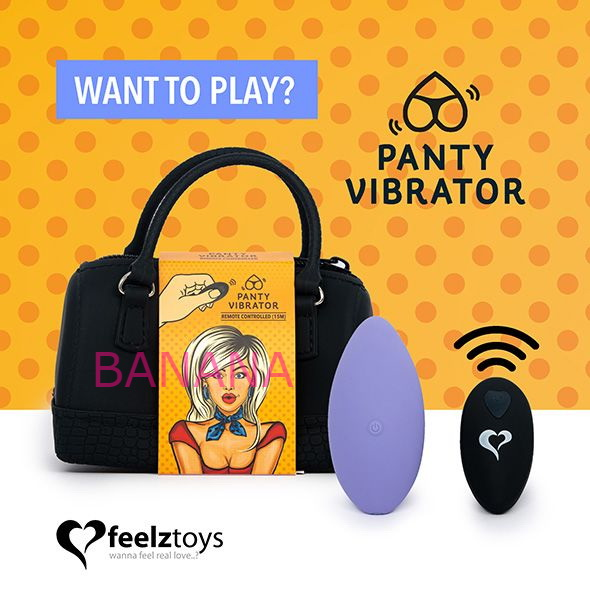 Вибратор в трусики FeelzToys Panty Vibrator Purple с пультом ДУ