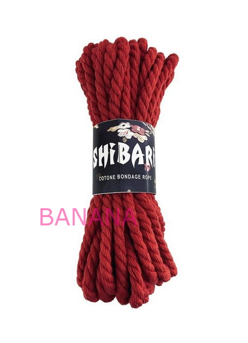Хлопковая веревка для Шибари Feral Feelings Shibari Rope 8 м красная