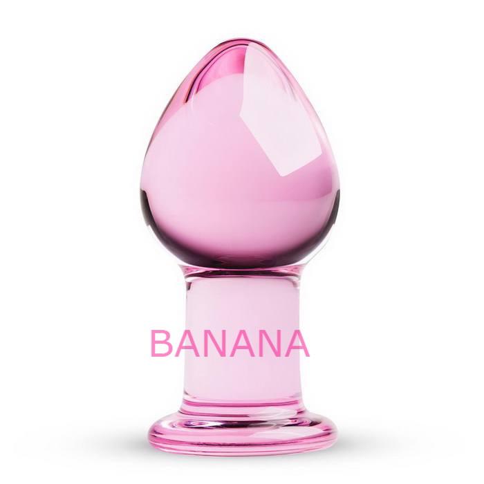Розовая анальная пробка из стекла Gildo Pink Glass Buttplug No. 26